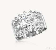 large diamond rings diamond ring setting with baguette diamonds