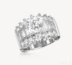 large diamond rings diamond ring setting with baguette diamonds