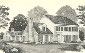 Colonial House Designs by Vintage House Plans 1970s Farmhouse Variations Antique Alter Ego