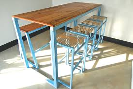 metal bar height table reclaimed wood bar height table plan eflyg beds