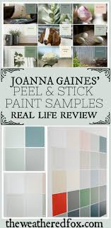 joanna gaines painted kitchen cabinets green i tried peel and stick magnolia home paint sles here s
