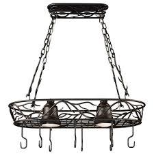 kenroy home twigs 58 in 2 light bronze pot rack 90308brz