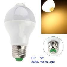 pir led light bulb e27 e26 b22 7w 14 led motion sensor light bulbs pir infrared motion