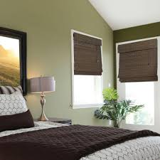 Homes Decorators Collection Home Decorators Collection Espresso Flat Weave Bamboo Roman Shade