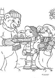 franklin bear celebrate christmas coloring pages hellokids