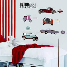 cartoon retro cars wall stickers for kids rooms child room cartoon retro cars wall stickers for kids rooms child room decoration nursery decor wallpaper wall decals cars sticker in wall stickers from home garden