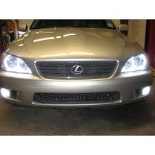 lexus is300 headlight assembly lexus is300 white led halo fog light kit 2001 2005