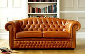 Gold Leather Sofa Living Room And Furniture Designing With Chesterfield Sofa And