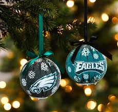 philadelphia eagles led light up ornaments set of 6