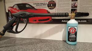 foam cannon pressure washer foam cannon washing drying and