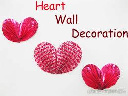 heart wall decoration how to diy creative paper hearts wall decor