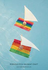 popsicle stick sailboat craft for kids creative jewish mom