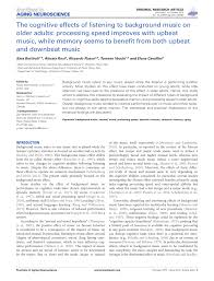 the cognitive effects of listening to background music on older