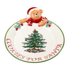 spode tree teddy cookies for santa platter 40 you