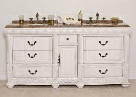 aber 72 inch double sink bathroom vanity white finish