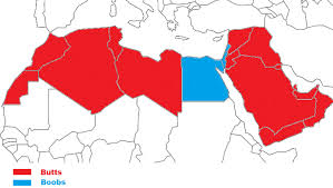 arab countries map or bums this report reveals what arabs prefer
