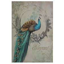 peacock decor for home yosemite home decor 35 in x 24 in