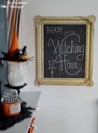 classic black and orange halloween mantel