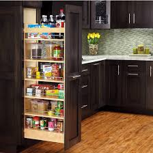 pull out tall kitchen cabinets rev a shelf tall wood pull out pantry with adjustable shelves for