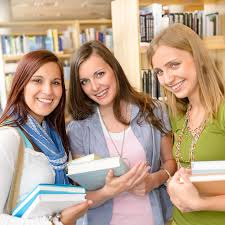 classmates books high school classmates with library books stock photo image of