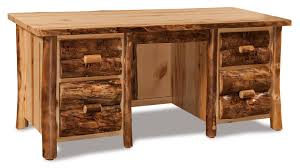 Shaker Bedroom Set Plans Handcrafted Rustic Pine Executive Desk