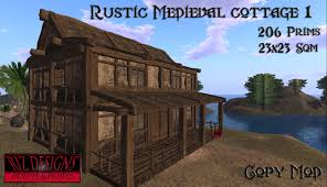 second life marketplace rustic medieval cottage tudor cottage by