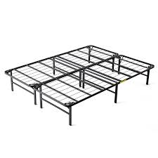 Platform Metal Bed Frame Intellibase Lightweight Easy Set Up Bi Fold Platform Metal Bed