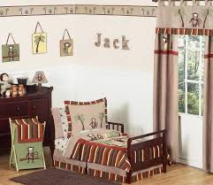 Monkey Baby Bedding For Boys Monkey Jungle Safari Toddler Boy Comforter Bedding 5pc Bed In A