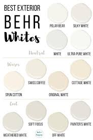 what is the best white color to paint kitchen cabinets best behr white paint colors for exteriors behr paint