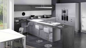 cuisine grise design decoration moderne meubles rangement equipee