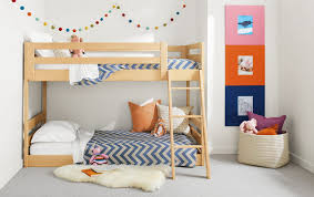 small kids room ideas kids room blue color paint with white and wood color furniture