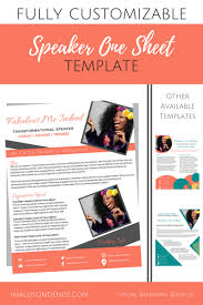 One Sheet Template Speaker One Sheet Template Boxed Brand It Beautifully