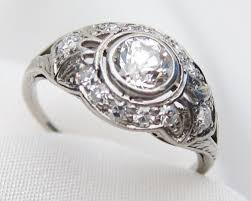 art deco diamond engagement ring 1920s deco diamond ring