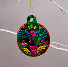 colourful mexican tin bauble decorations by deja ooh