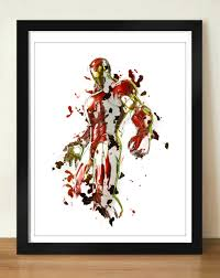 digital download iron man painting wall abstract art superhero zoom