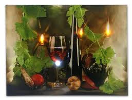 amazon com wine decor canvas wall art with led lights wine