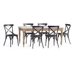 X Back Bistro Chair Calistoga Table X Back Bistro Chair Dining Set Pottery Barn