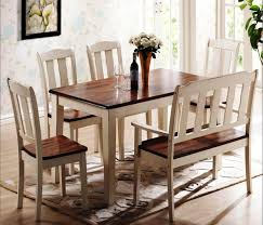 Dining Room Table Bench Dining Room A Classic Wood Dining Room Table With Bench Chairs