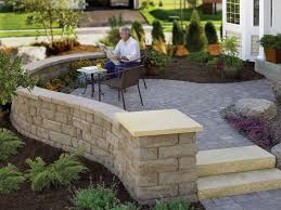 Patio Retaining Wall Ideas Front Yard Patio Ideas Steel Retaining Wall Designs Amys Office
