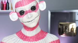 cute halloween background monkey sock monkey makeup tutorial youtube