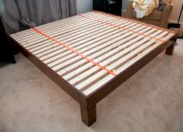 Simple King Platform Bed Plans by Diy Hand Built King Sized Wood Platform Bed See Post For