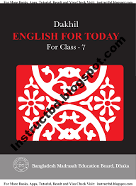 bmeb dakhil class seven textbook free download instructbd