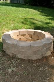 Firepit Blocks Beautiful Pit Block How To Build A Pit With Cinder