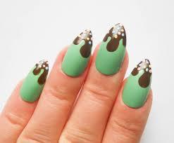 mint chocolate stiletto nails fake nails false nails