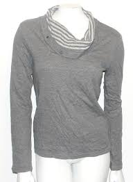 Drapery Exchange Armani Exchange Ax Designer Ladies Drapery Striped Neck Sweater