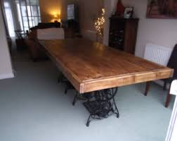 Rustic Table Ls Rustic Dining Table Benches With Vintage Singer