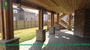 cedar deck pergola and walkout basement youtube