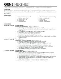 house cleaning resume sample resumess memberpro co