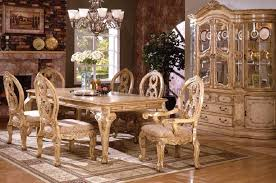 tuscany iii dining room set by furniture of america cm3845wh t