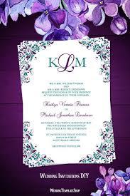 teal wedding invitations kaitlyn wedding invitation peacock purple teal wedding template shop